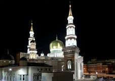 莫斯科大教堂清真寺,俄罗斯--主要清真寺在莫斯科 图库摄影