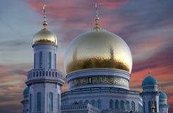 莫斯科大教堂清真寺,俄罗斯--主要清真寺在莫斯科 免版税图库摄影