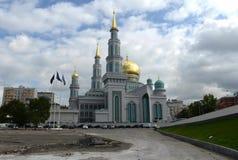 莫斯科大教堂清真寺 主要清真寺在莫斯科,一最大在俄罗斯和欧洲 图库摄影
