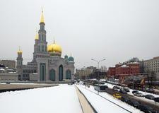 莫斯科大教堂清真寺从2007-2015改造 库存照片