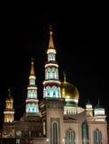 莫斯科大教堂清真寺 种族分界线晚上摄影 免版税库存照片