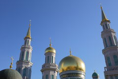 莫斯科大教堂清真寺 免版税图库摄影