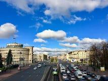 莫斯科夫斯基Prospekt在圣彼德堡, 10月 库存图片