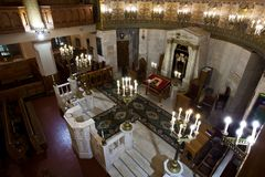 莫斯科好犹太教堂的圣所,圣所阿荣 免版税库存照片