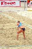 2015年莫斯科封垫响声比赛沙滩排球俄罗斯莫斯科31可以2015年 图库摄影