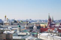 莫斯科屋顶在一个晴天 库存照片
