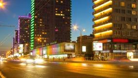 莫斯科市中心夜timelapse  股票录像