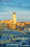 莫斯科市中心视图和现代高层 图库摄影