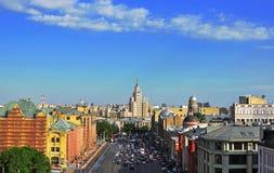 莫斯科市中心,顶视图 免版税库存图片
