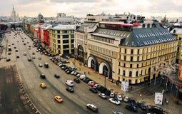 莫斯科市中心,顶视图 库存图片