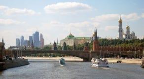 莫斯科市全景在夏天 免版税库存照片