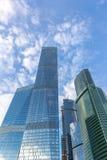莫斯科市几个大厦  免版税库存照片