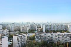 莫斯科市地平线天顶视图  免版税库存图片
