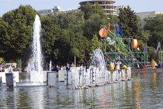 莫斯科市天庆祝 库存图片