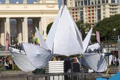 莫斯科市天庆祝 免版税库存照片