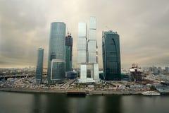 莫斯科市摩天大楼都市风景  库存照片