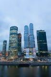 莫斯科市摩天大楼都市风景  库存图片