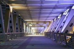 莫斯科市桥梁在晚上,俄罗斯 免版税库存照片
