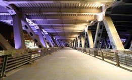 莫斯科市桥梁在晚上,俄罗斯 免版税库存图片
