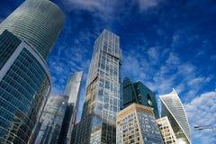 莫斯科市的摩天大楼 图库摄影