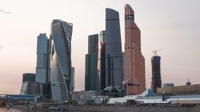 莫斯科市莫斯科国际商务中心,俄罗斯Timelapse 股票视频