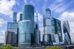 莫斯科市-一个商业中心在莫斯科的中心 免版税库存照片