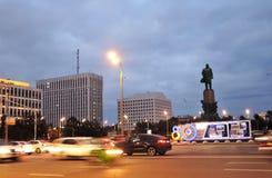 莫斯科市870年假日装饰 库存图片