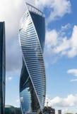 莫斯科市(莫斯科国际商业中心摩天大楼  图库摄影