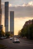 莫斯科市(MIBC)摩天大楼 库存照片