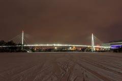 莫斯科早期的冬天早晨 库存图片