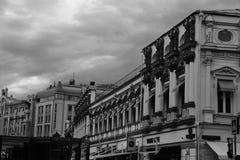 莫斯科是一个灰色城市 库存照片