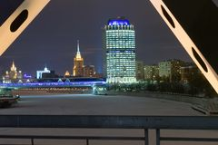 莫斯科晚上冬天 库存照片