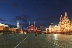 莫斯科晚上红场 库存图片