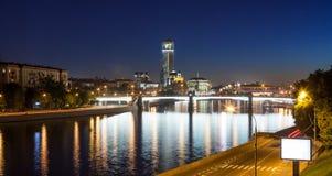 莫斯科晚上视图 免版税库存图片
