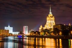 莫斯科晚上tsaritsyno 免版税库存照片