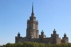 莫斯科期间摩天大楼苏维埃 库存照片
