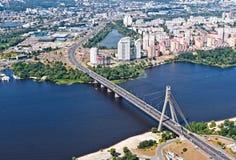 莫斯科桥梁 基辅,乌克兰 Kyiv,乌克兰 库存照片