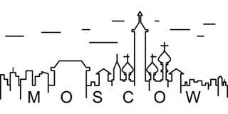 莫斯科概述象 能为网,商标,流动应用程序,UI,UX使用 向量例证
