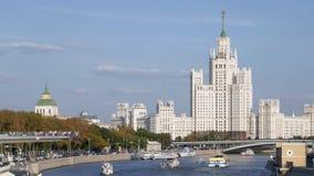 莫斯科河亢奋流逝  影视素材