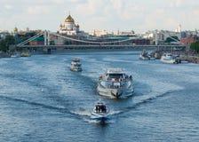 莫斯科河在夏天 库存照片