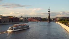 莫斯科河在晚上 影视素材