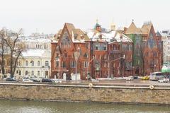 莫斯科河堤防 库存图片