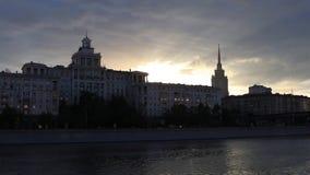 莫斯科河晚上 股票录像