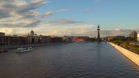 莫斯科河看法日落的 影视素材