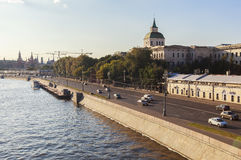 莫斯科河,俄罗斯 库存照片