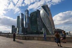 莫斯科河,莫斯科,俄国联邦城市,俄罗斯联邦,俄罗斯 免版税库存照片