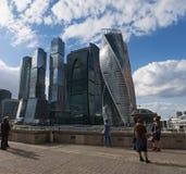 莫斯科河,莫斯科,俄国联邦城市,俄罗斯联邦,俄罗斯 免版税图库摄影