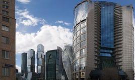 莫斯科河, Presnensky区,莫斯科,俄国联邦城市,俄罗斯联邦,俄罗斯 免版税库存图片