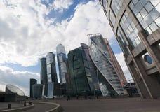 莫斯科河, Presnensky区,莫斯科,俄国联邦城市,俄罗斯联邦,俄罗斯 免版税库存照片