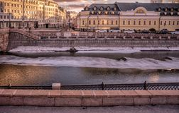 莫斯科河 库存照片